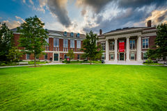 The Radcliffe Institute for Advanced Study at sunset, at Harvard. University, in Cambridge, Massachusetts royalty free stock images