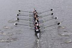 Radcliffe kvinnors lopp för besättning i huvudet av Charles Regatta Womens ledar- Eights Royaltyfri Bild