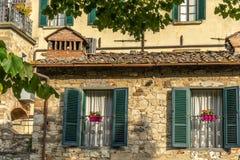 Radda в Chianti в утре, Toscana, Италии стоковое фото