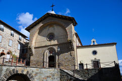 Radda in Chianti, Rectory of St. Nicholas, Tuscany 2. View of the church of St. Nicholas Radda in Chianti royalty free stock images