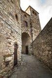 Radda in Chianti. (Siena, Tuscany, Italy), medieval town. The walls stock photos
