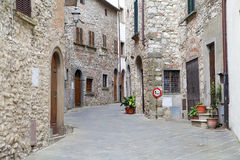 Radda in Chianti, Tuscany, Italy. Urban street in Radda in Chianti, Tuscany, italy. Radda in Chianti is in Province of Siena and it was, since the 13th century stock images