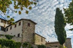 Radda dans le chianti pendant le matin, Toscane, Italie photographie stock libre de droits