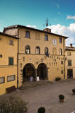 Radda i Chianti, slottstadshus, Tuscany 6 Fotografering för Bildbyråer
