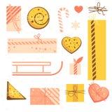 Raddagåvan boxas Illustrationartighet av packar för ferien Du kan använda vykort, baner, bakgrunder Royaltyfria Foton