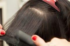 Raddrizzi i capelli Fotografia Stock Libera da Diritti