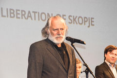 Rade Serbedzija, 22$ο φεστιβάλ ταινιών του Σαράγεβου, η απελευθέρωση των Σκόπια Στοκ Εικόνες