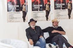 Rade Serbedzija, Danilo Serbedzija, 22$ο φεστιβάλ ταινιών του Σαράγεβου, η απελευθέρωση των Σκόπια Στοκ εικόνες με δικαίωμα ελεύθερης χρήσης