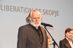 Rade Serbedzija, 22ste de Filmfestival van Sarajevo, de Bevrijding van Skopje Stock Afbeeldingen