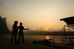 Radeau de bambou de crête de Karst Photo libre de droits