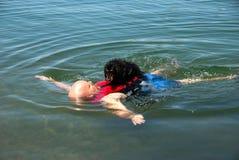 Radeau de crabot de Weiner Images libres de droits