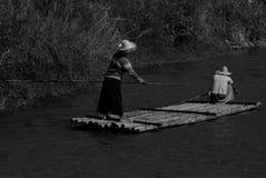Radeau de pêche Images libres de droits