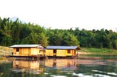 Radeau en bambou Photos libres de droits