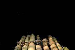 Radeau en bambou mystérieux Image stock