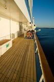 Radeaux gonflables, bateau de croisière photographie stock