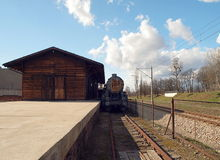 Radegast-Station, von hier zur Ewigkeit stockbilder