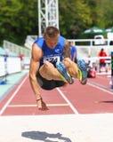 Radek Juška. Athlete athletics winner run runner long jump longjump sport sports Royalty Free Stock Photography
