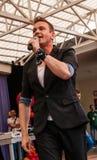 Radek Liszewski medlem av den polska helgen för diskopolomusikband Royaltyfria Bilder