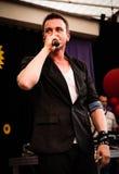 Radek Liszewski, miembro del fin de semana polaco de la banda del polo del disco Imagen de archivo libre de regalías