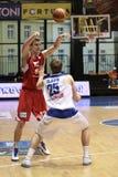 Radek Necas - basket-ball Nymburk de CEZ Photos stock