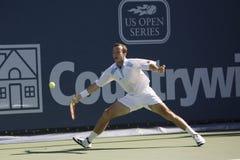 Radek Stepanek en el tenis de Los Ángeles abierto Imagen de archivo libre de regalías