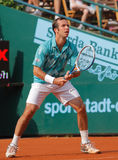 Radek Stepanek, Tennis  2012. 2012 World Team Cup. This photo shows Czech player Radek Stepanek during his singles match with James Blake. This tennis event Royalty Free Stock Photos