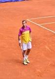 Radek Stephanek at the ATP Mutua Open Madrid. Radek Stephanek playing against Roger Federer at Mutua Open Madrid, 7th May 2013 Royalty Free Stock Image