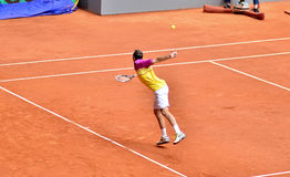 Radek Stephanek at the ATP Mutua Open Madrid. Radek Stephanek playing against Roger Federer at Mutua Open Madrid, 7th May 2013 Stock Photography