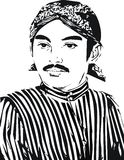 Raden Mas Said Vector Royalty-vrije Stock Foto's