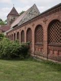 Radensleben-Dorfkirche-Mauern royalty free stock image