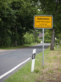Radensleben-Ortseingang royalty free stock images