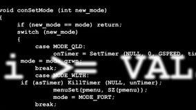 Rader av datorkoden som försvinner i avstånd Fotografering för Bildbyråer