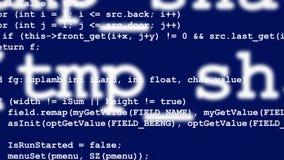 Rader av datorkoden som försvinner i avstånd Royaltyfri Bild