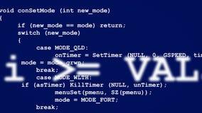 Rader av datorkoden som försvinner i avstånd Royaltyfri Foto