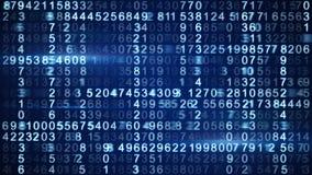 Rader av den blåa digitala koden Arkivfoton
