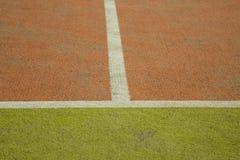Rader av en tennisbana Royaltyfri Bild