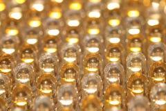 Rader av LEDDE ljusa kulor Arkivfoto