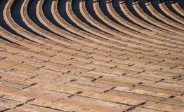 Rader av placering i Ampitheater Arkivfoto
