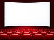 Rader av röda bio- eller teaterplatser Fotografering för Bildbyråer
