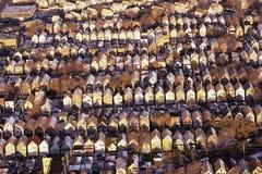 Rader av rooftops Arkivfoto