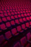 Rader av tomma teaterplatser Fotografering för Bildbyråer
