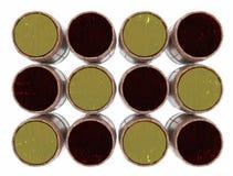 Rader av trummor av alkoholdrycker illustration 3d Fotografering för Bildbyråer