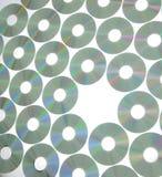 rader för kompakta disks Fotografering för Bildbyråer