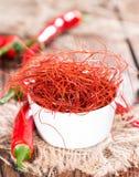 Rader för varm chili Arkivfoton
