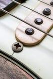 Rader och uppsamling för elektrisk gitarr för tappning Arkivfoto