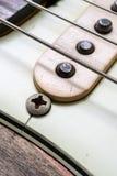 Rader och uppsamling för elektrisk gitarr för tappning Royaltyfri Bild