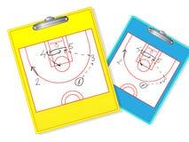 Raderbart baskettränarebräde royaltyfri illustrationer
