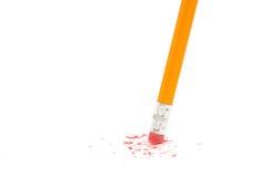 radering av blyertspennan Royaltyfri Foto