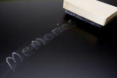 radering av minnen Arkivfoton
