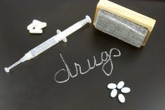 Radering av narkotikaberoende Arkivfoto